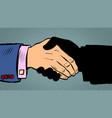 handshake deal business agreement vector image vector image