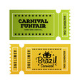 happy brazilian carnival day green and yellow vector image vector image
