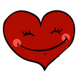 happy red heart on white background vector image