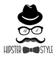 hipster style graphic symbol black hipster vector image vector image