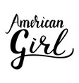 Inscription brush american girl