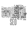 is seo dead text background word cloud concept vector image vector image