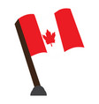 isolated flag of canada vector image