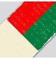 Madagascar grunge flag vector image vector image