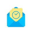 mail symbol envelope icon wait for envelope vector image