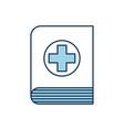 medical book science literature healthcare icon vector image