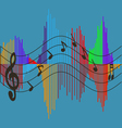 Musical wave vector image