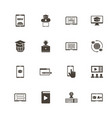 online education - flat icons vector image vector image