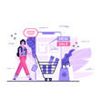 online shopping with smartphone shopping concept vector image