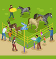 petting farm zoo composition vector image vector image