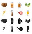 pub and bar symbol set of vector image vector image
