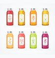 realistic detailed 3d juice color bottle vector image