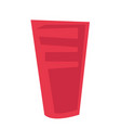 red plastic glass cartoon vector image