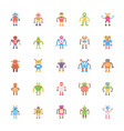 robotic flat icons pack vector image