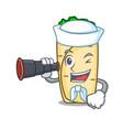 sailor with binocular burrito mascot cartoon style vector image vector image