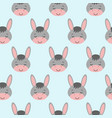 seamless background design with gray cute donkeys vector image vector image