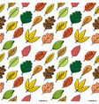 seamless patterns autumn leaves vector image vector image