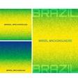 Set of pixel digital background Brazil flag colors vector image vector image