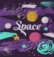 space kids design childish cosmic background vector image vector image