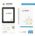 star business logo tab app diary pvc employee vector image vector image
