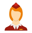 Stewardess icon flat style vector image vector image