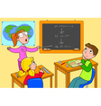 Teacher and pupils in a classroom vector image