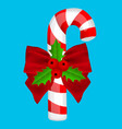 traditional christmas candy on a blue background vector image