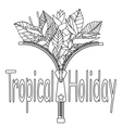 Tropical Holiday Print vector image