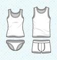 Underwear set vector image vector image