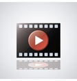 Video movie and media design vector image vector image