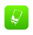 water smartphone icon green vector image vector image