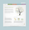 Website design template with floral tree