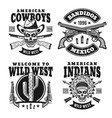 western black emblems badges labels vector image