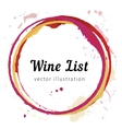 Wine stain circles vector image vector image