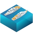 Yacht water carriage and maritime transport Ship vector image vector image