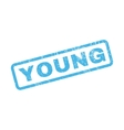 Young Rubber Stamp vector image vector image