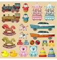 Set of toys vector image