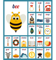 Set of Cards with alphabet phonemes vector image