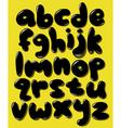 black lower case bubble alphabet vector image