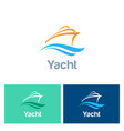 yacht colored logo vector image