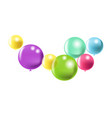 abstract flying balloons vector image
