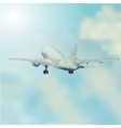 Airplane takeoff abstract vector image vector image