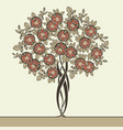 beautiful tree drawn in art nouveau style vector image