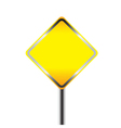 Blank warning road sign vector image vector image