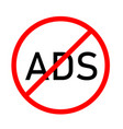 block ads icon on white background flat style vector image vector image