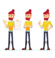 business man characters adult hipster in casual vector image vector image