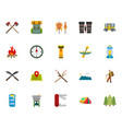 camping icon collection color style vector image vector image