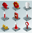 chemical color gradient isometric icons vector image vector image