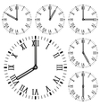 Clock face Roman numerals vector image vector image