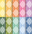 clorful plaid pattern vector image